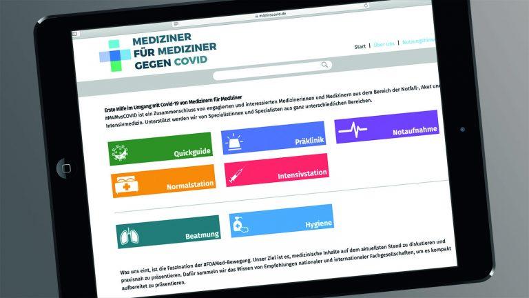 EX-Alumni unterstützen Mediziner-Portal für Corona-Fachinfos
